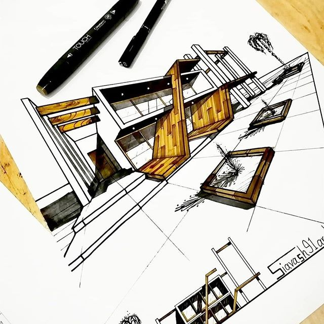#Repost from @siavash91arch . (2718.3.17) . . . #alvindrafting #draftingtools #drafting #draft #draw #drawing #drawingtools #architect #architecture #architecturestudent #architecturedrawing #architecturedesign #architecturesketch #render #rendering #architecturerendering #sketch #sketching #sketchingtools #sketchbook #art #artist #architectural #architectsofinstagram #design #designer #architecturestudent