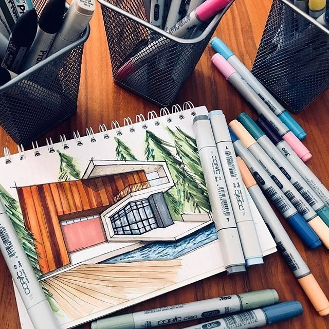 #Repost from @telvinsketch . Quick sketch🖌exercises for perspective🏯 . . . #alvindrafting #draftingtools #drafting #draft #draw #drawing #drawingtools #architect #architecture #architecturestudent #architecturedrawing #architecturedesign #architecturesketch #render #rendering #architecturerendering #sketch #sketching #sketchingtools #sketchbook #art #artist #architectural #architectsofinstagram #design #designer #architecturestudent