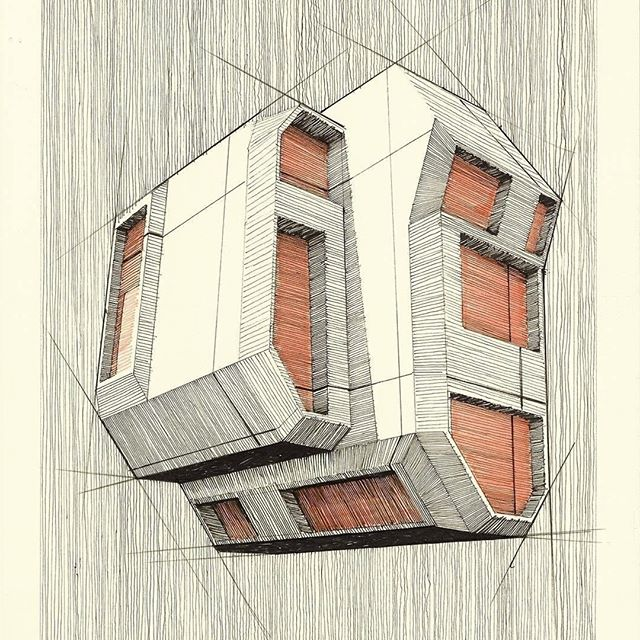 #Repost from @martijnvanberkum . Another sketch very much akin to the one i shared last Sunday. Still experimenting with heavy, cubic, brutal structures. . . . #alvindrafting #draftingtools #drafting #draft #draw #drawing #drawingtools #architect #architecture #architecturestudent #architecturedrawing #architecturedesign #architecturesketch #render #rendering #architecturerendering #sketch #sketching #sketchingtools #sketchbook #art #artist #architectural #architectsofinstagram #design #designer #architecturestudent