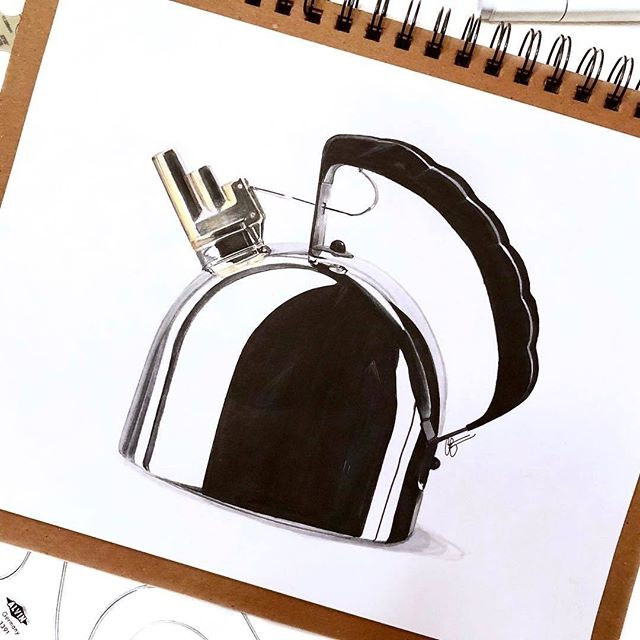 Can you spot the french curve?  #Repost from @sketchypat . Alessi 9091 Kettle designed by Richard Sapper. Illustrated by 👁. . . . #alvindrafting #draftingtools #drafting #draft #draw #drawing #drawingtools #architect #architecture #architecturestudent #architecturedrawing #architecturedesign #architecturesketch #render #rendering #architecturerendering #sketch #sketching #sketchingtools #sketchbook #art #artist #architectural #architectsofinstagram #design #designer #architecturestudent