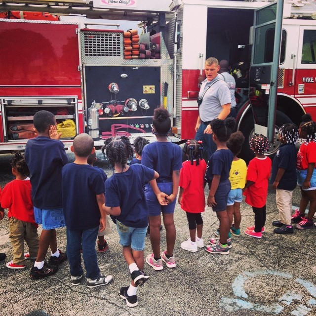 Today we received a visit from the Riviera Beach F.D.!!