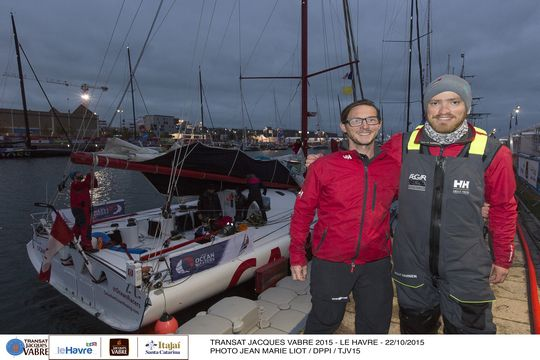 Eric and Morgen finally arrive in France, ready to turn around and race back across the Atlantic in 3 days.