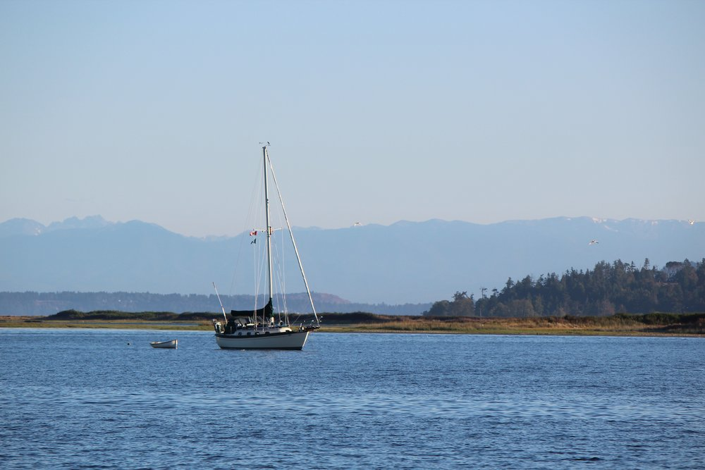 Anchored off Sidney Spit