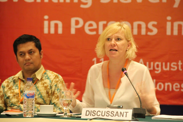 Helen Sworn on 'Preventing Slavery & Trafficking in Persons in ASEAN', Bali