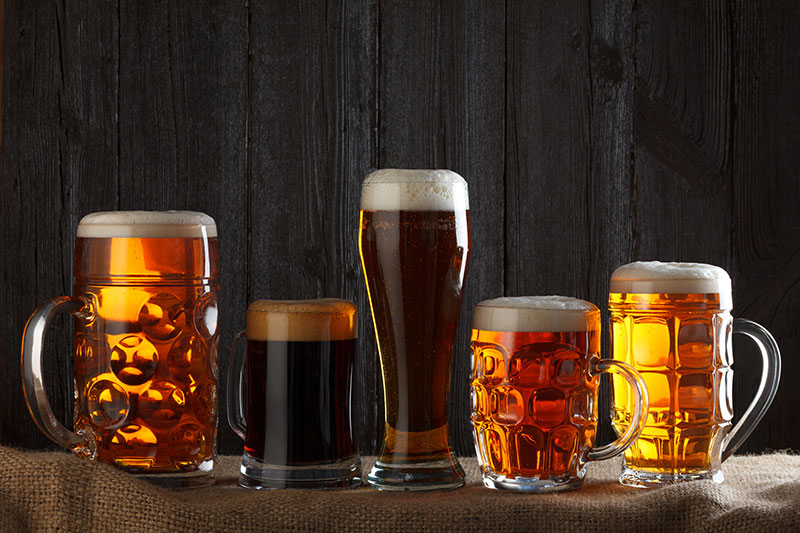 Beer clean glasses
