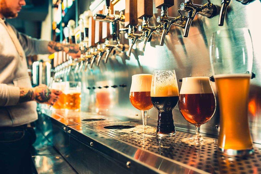 Clean beer on tap