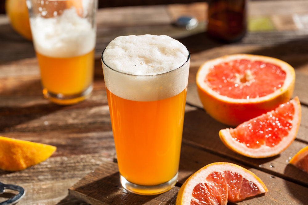 Beer with grapefruit