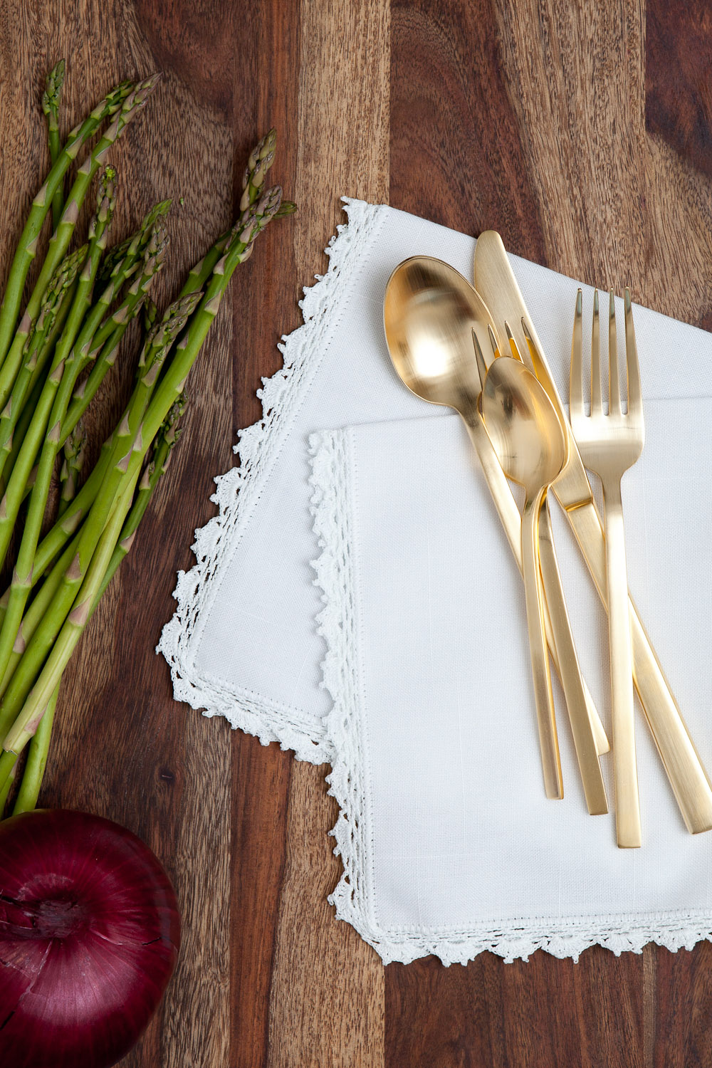 dinner styled linen napkins product photography