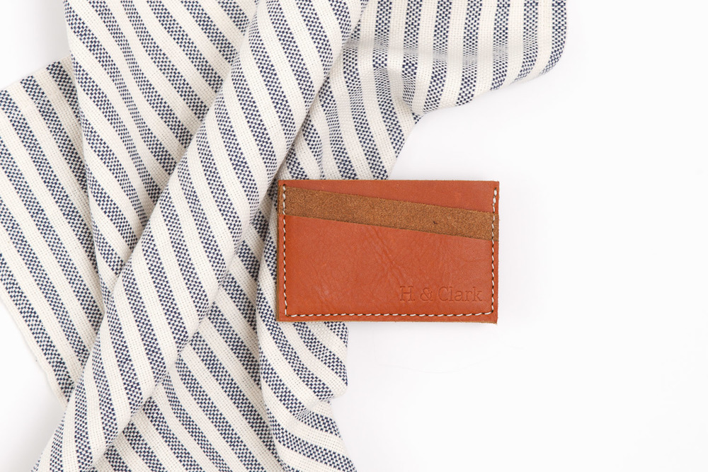 h-clark leather card holder