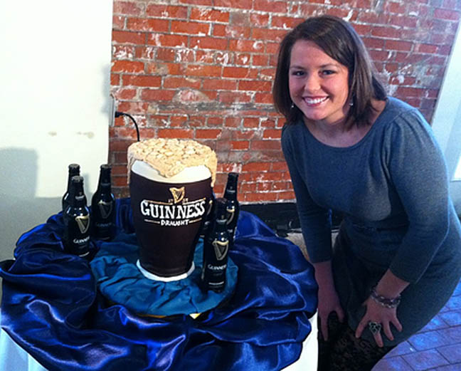 Melissa Butler from  Louisvillicous - Local #GirlBoss AND #CCBride {that is a CAKE y'all!}