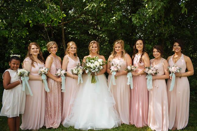 BridesmaidsBrideLouisvilleWeddingCoutureCloset