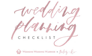 couture closet wedding planning checklist