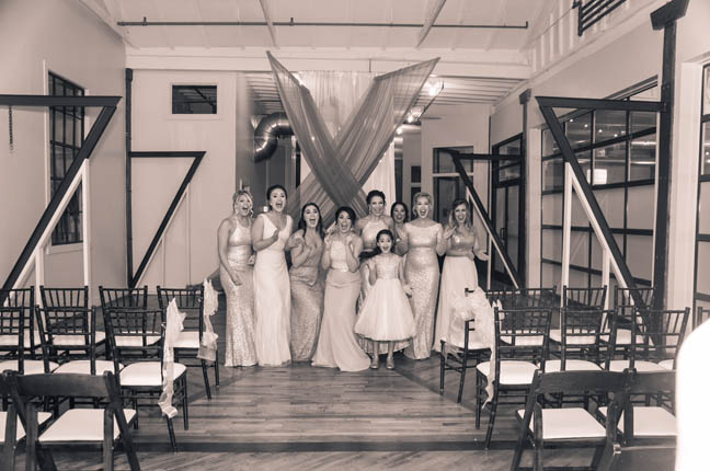 Madison+First Look+Maids+Butchertown Pointe+Louisville Wedding+Couture Closet