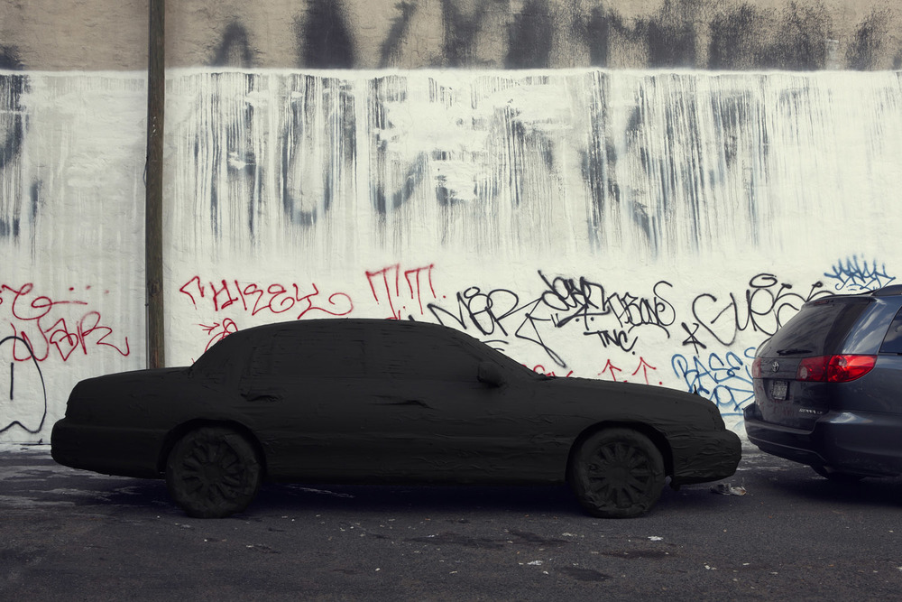 Silhouette / Urban Intervention (Black Tape) - Car