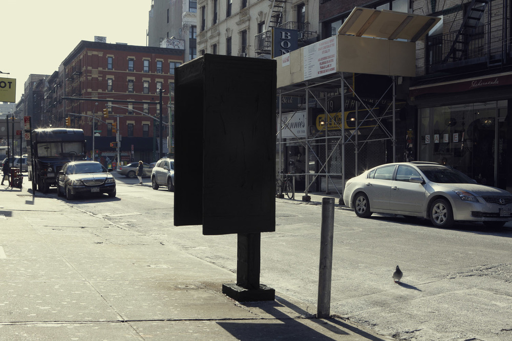 Silhouette / Urban Intervention (Black Tape) - Phone Booth