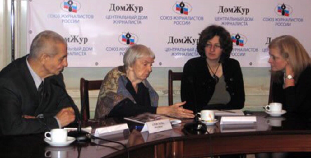 Dr. Lantos Swett meets with Lyudmila in Russia in 2010.
