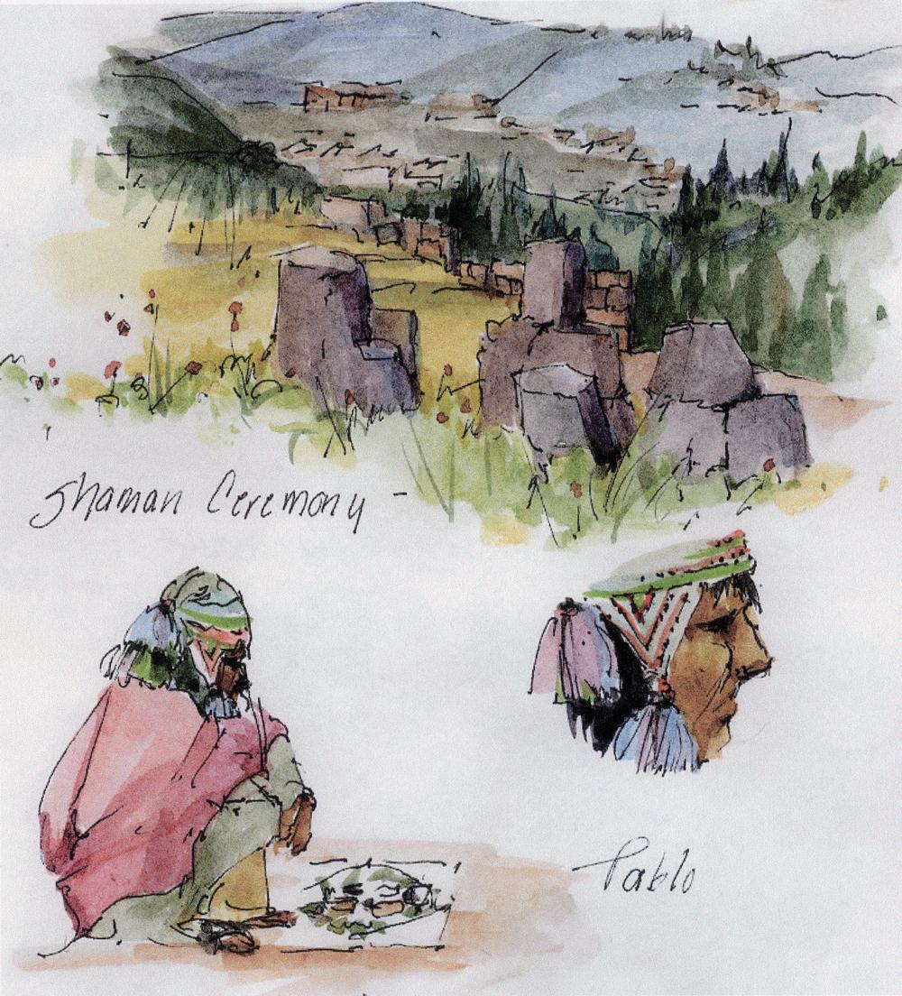 Shaman near Sacsayhuaman