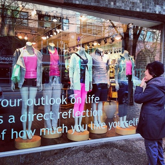 Springtime Layering Window Display at Robson St.