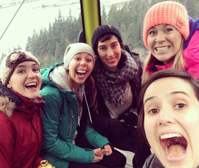 Gondola Ride up the mountain in Squamish, BC