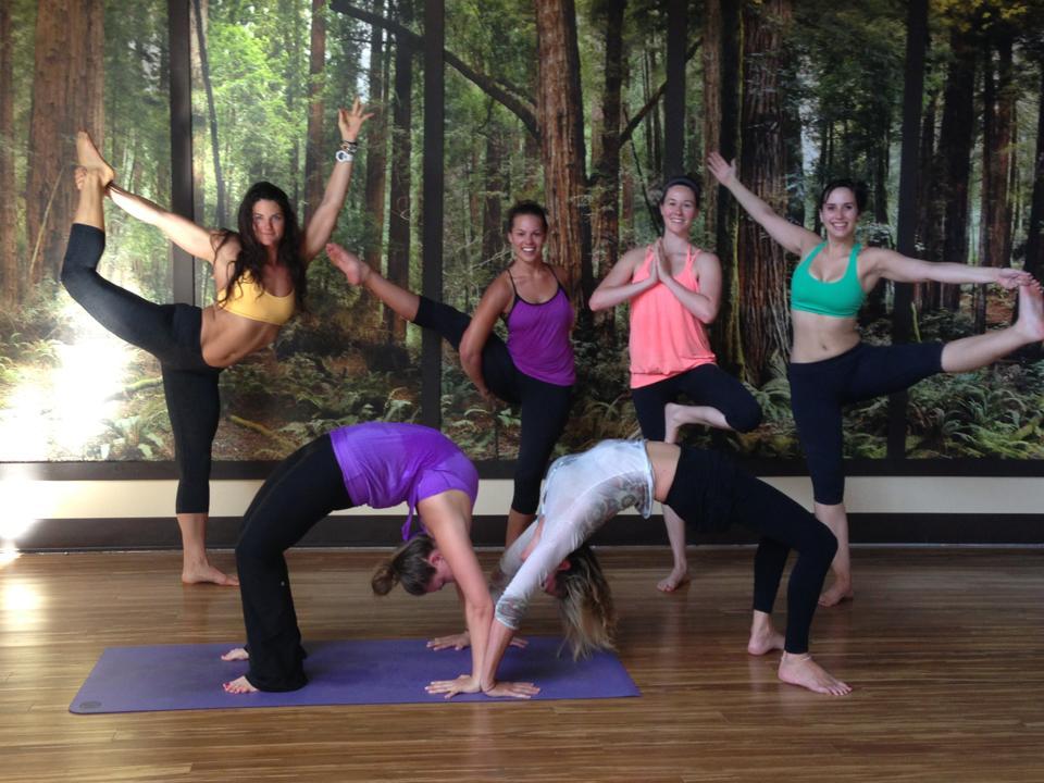 Yoga class at Yoga Tree in Corte Madera, CA