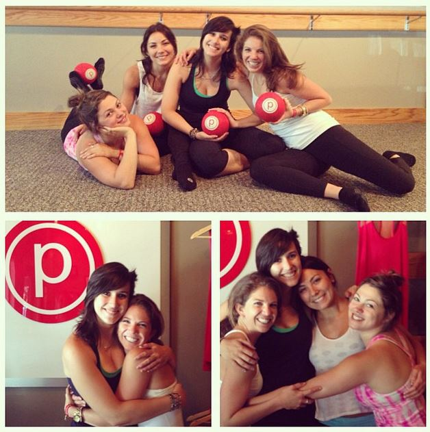 Barre class at Pure Barre in Mill Valley, CA