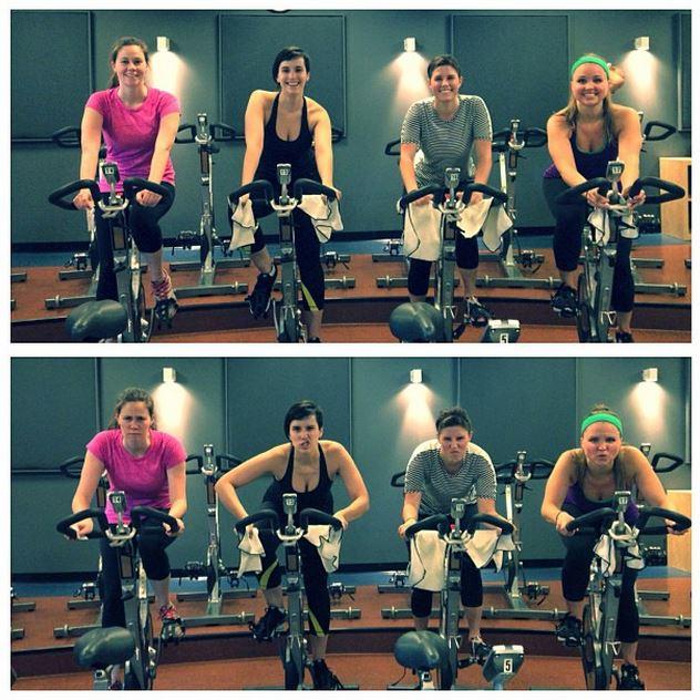 Spin class at Pelo Fitness in San Rafael, CA