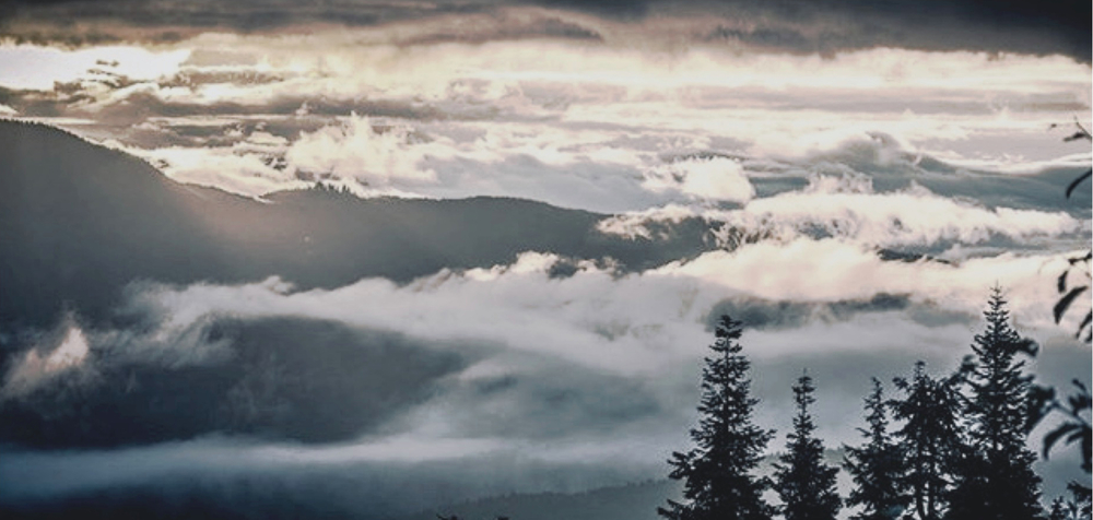 A foggy morning atop Seymour Mountain, edited version of photo via @MtSeymour Instagram.