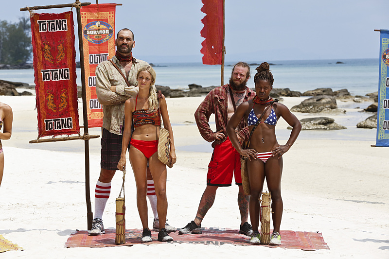 Brawn Tribe, from left (in case you forgot): Scott, Alecia, Jason and Cydney.
