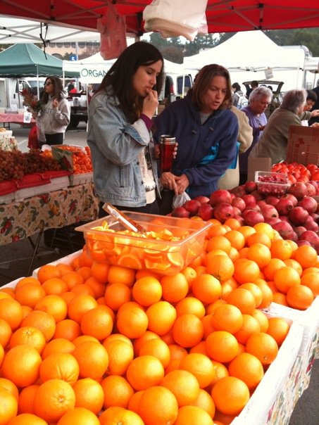 At the Farmer's Market in California, January 2009