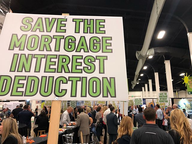 Pop-up rally to save the mortgage interest deduction here at BIS today #bisbiasc2017
