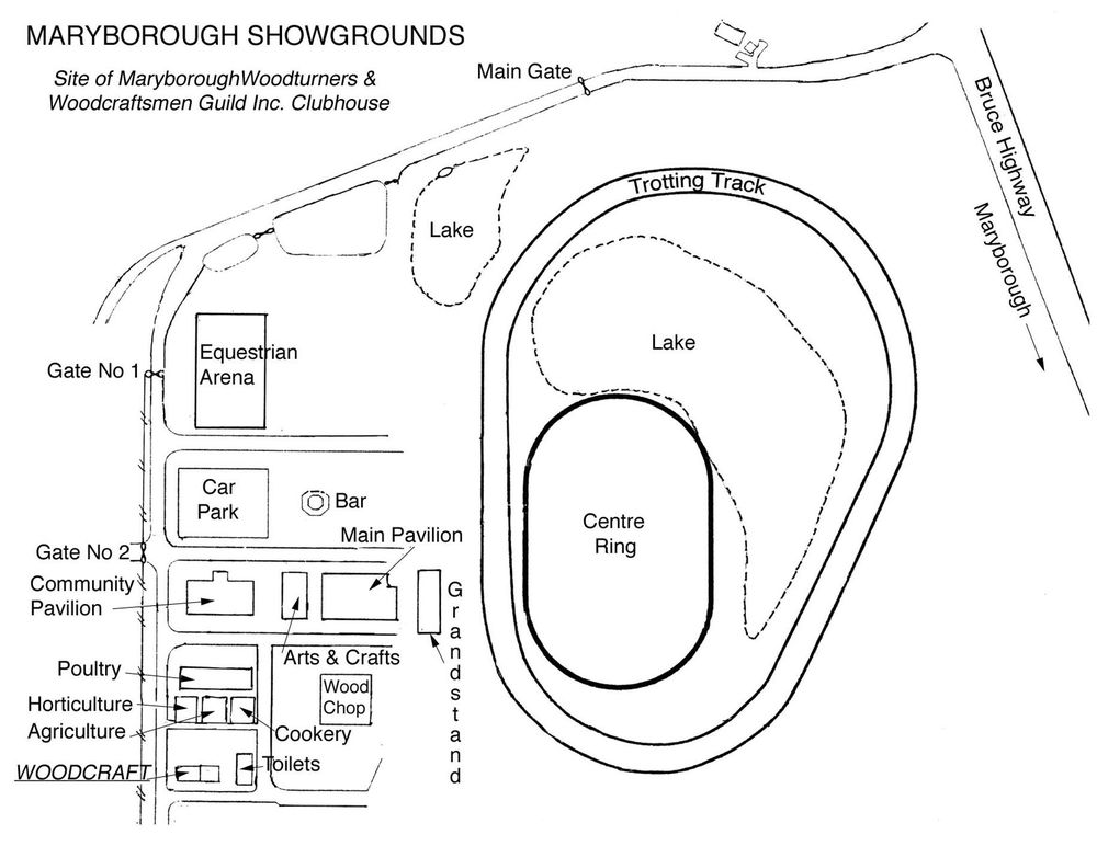 Map of Maryborough Showgrounds