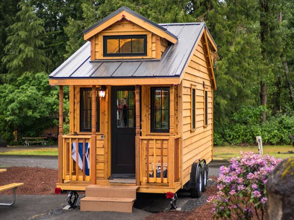 Housing in picture may appear smaller than actual apartment. (Image Attribution: https://www.mthoodtinyhouse.com/atticus_tinyhome)