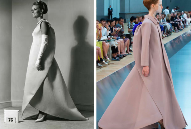 Balenciaga Collection FW1965 [Left] vs. Maison Margiela Couture FW2015 [Right]