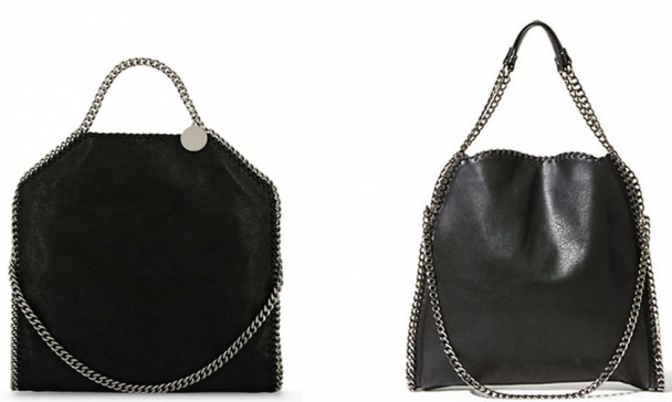 Left: Stella McCartney's Falabella bag Right: Steve Madden's BTotally bag
