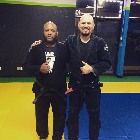 Congrats to #Wisconsinmma Vet Robert Smith. Tonight he earned (long over due ) his #brownbelt from #marclaimon . Three years ago Rob would have never believed we would receive the brown belt from Marc Laimon ....but he trusted the process and trusted his team and everything fell into place for him , but even better than he expected . If you know Rob you know that this belt is long over due , but he has embraced the GI and has been stamped and approved by #marclaimonbjj ..... ps , stay out of his north south chokes . Rob - infinite possibilities , it's only the beginning . #bjjmilwaukee #mmamilwaukee #milwaukeemma #jiujitsumke #mkebjj #mkehome #mkefitness #mkekickboxing #mkecoach #cobrakaibjj