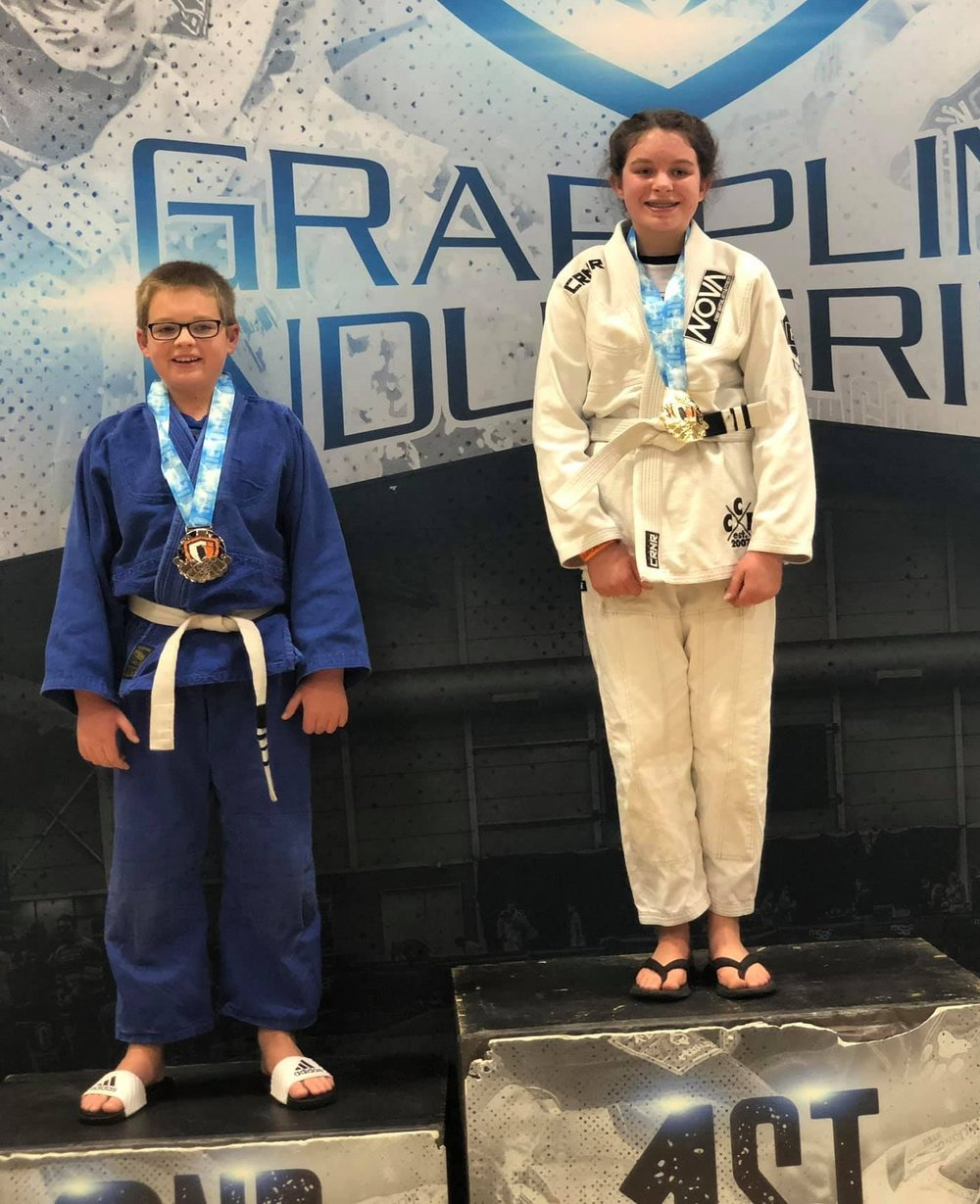 12 Year Old Raina from Pewaukee wins Gold this BJJ tournamnet.