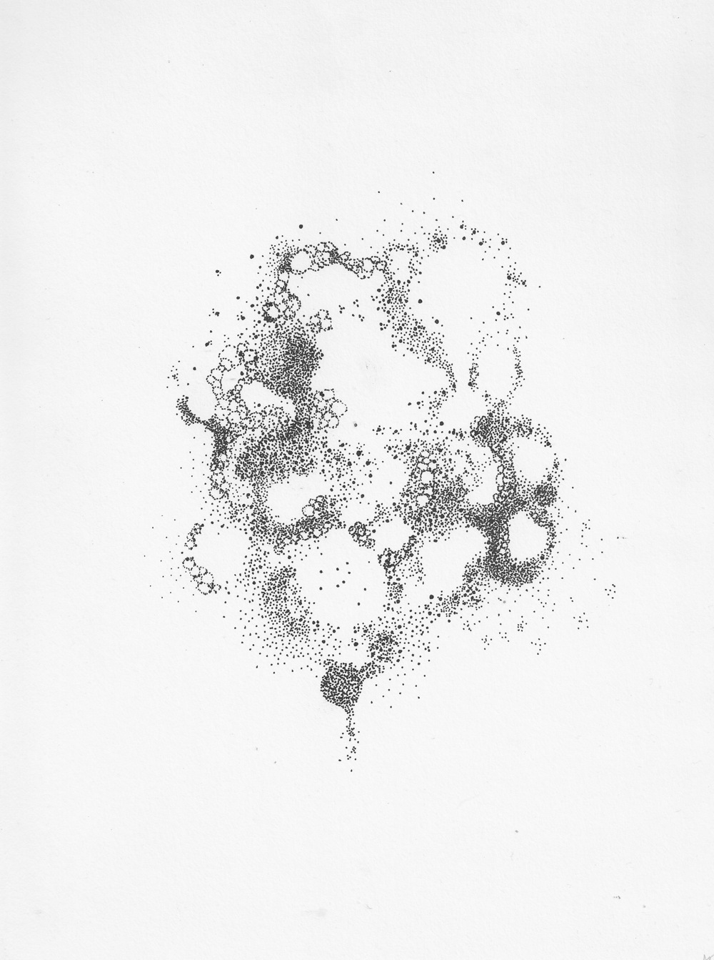 untitled (dot3), ink on paper, 8 x 10 in.