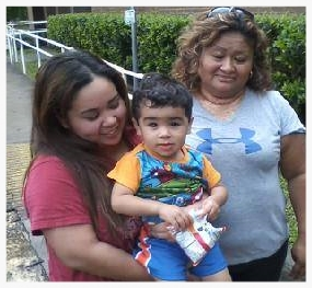 Noah, Brenda and Maria