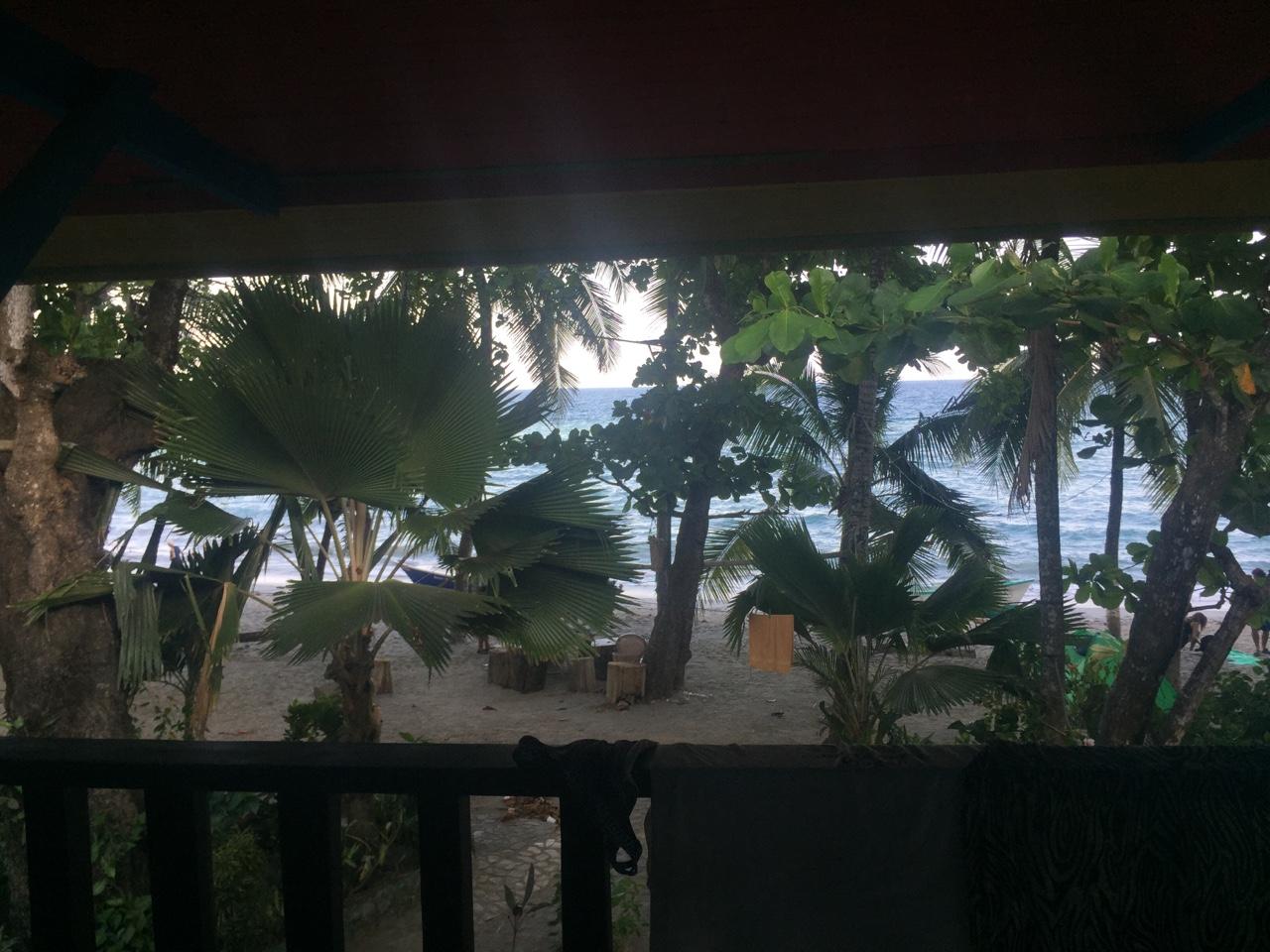 Last hostel balcony view.