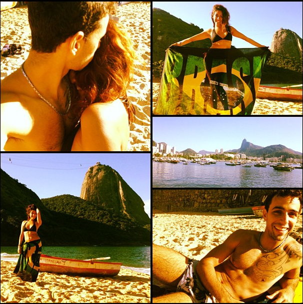 My days in Rio have been a lil something like this…living a really simple life with my boo, exploring the city, laying in the sand, playing in the water,and at the end of the day eating Tapiocas and corn on a cob. On this beautiful day we went to Praia Vermelha. We had such an amazing day with just spending about $20. I love my life here. I am not ready to leave this country…or him. Everyday we learn something new from one another. I'm going to miss him so much.
