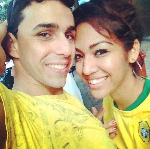 Watching futbol games in Brazil is sooo much fun!!!The city stops to support their team!And it is even more fun watching it with my boo! :D