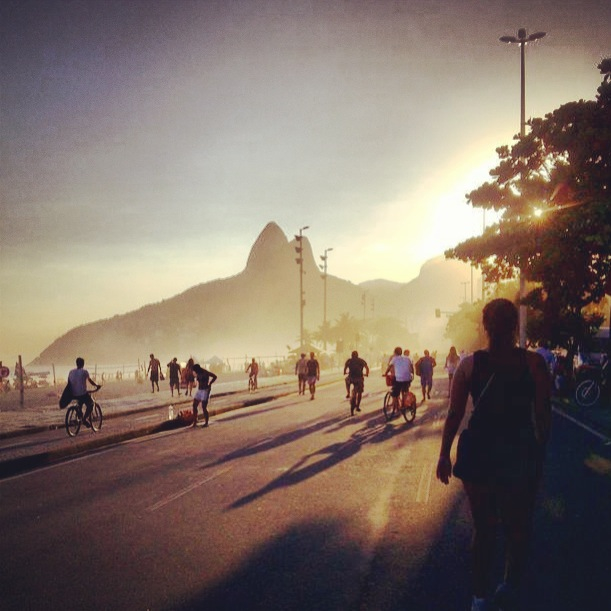 Easter sunset run in Ipanema. Beautiful!Sometimes it feels like a dream…