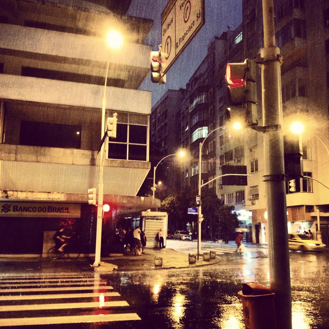 Chuva em Copacabana!