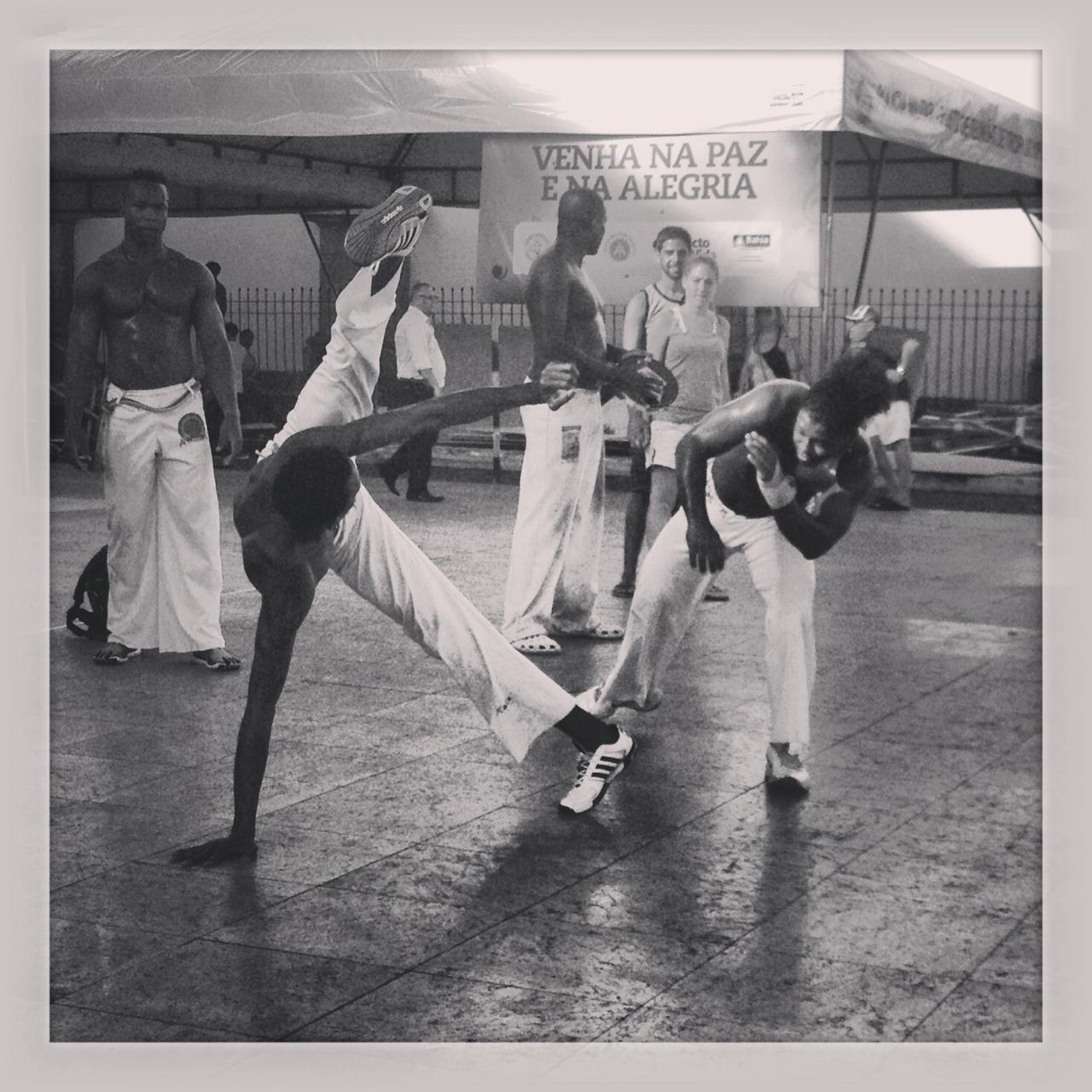 Capoeira en las calles de Pelourinho.