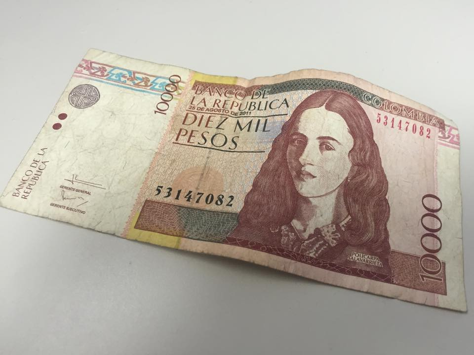 Policarpa Salavarrieta on the 10,000 pesos bill