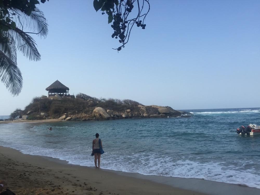 Amy admiring Cabo San Juan