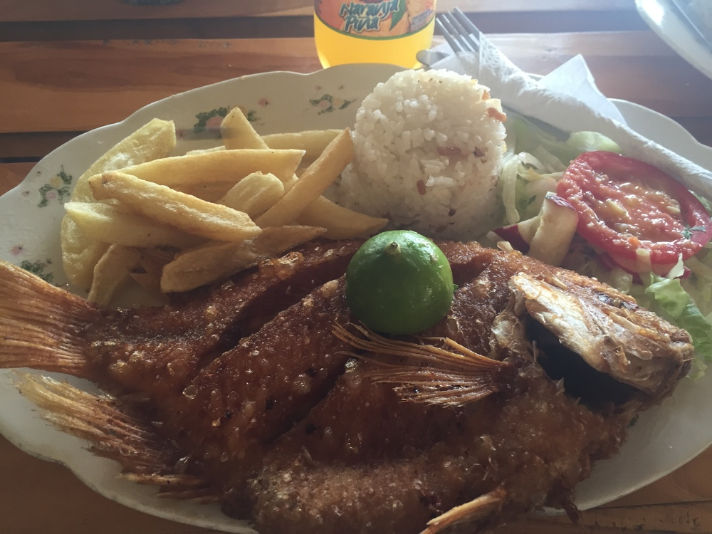COP $25,000 lunch!Mojarra frita!