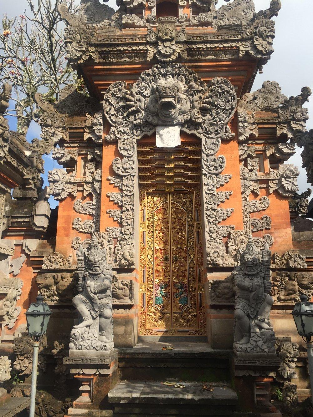 The front door of a Balinese home.