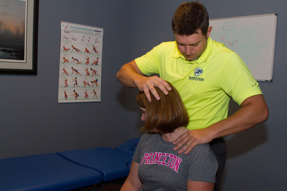 Motion Palpation of the cervical spine prior to manual manipulation