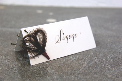 masquerade place cards with custom calligraphy - Custom Place Cards